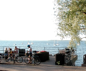 Lake Mendota, bikes and boats